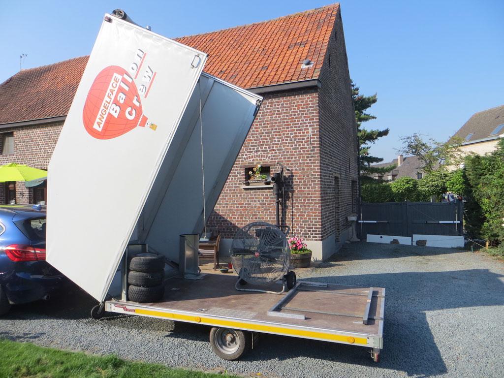 Bratschi single axle trailer