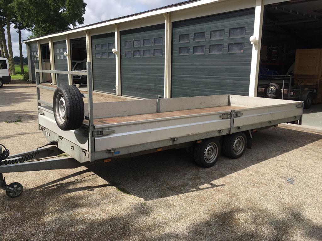 Hapert AL3000 Stark flat bed trailer