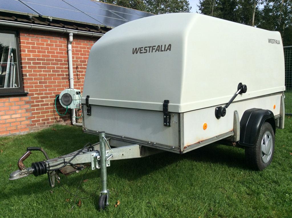 Westfalia 2.5m single axle trailer
