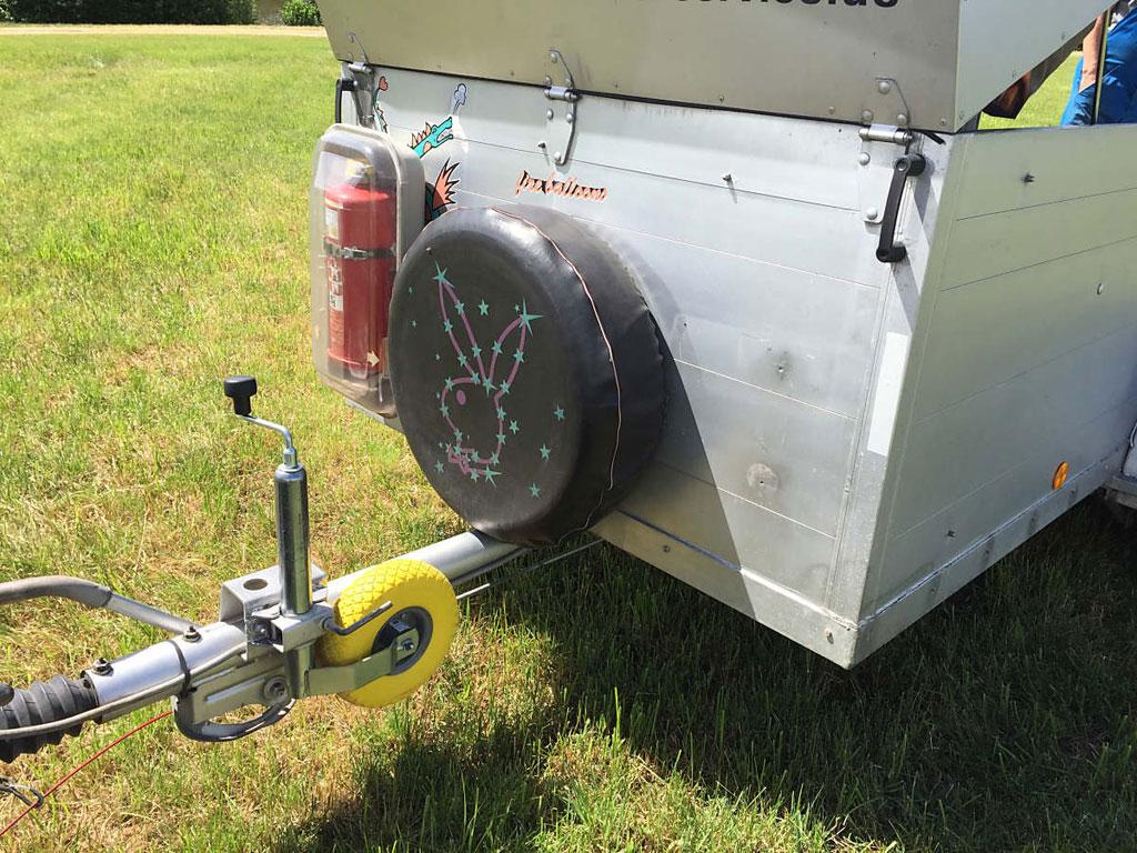 Kufer single axle trailer