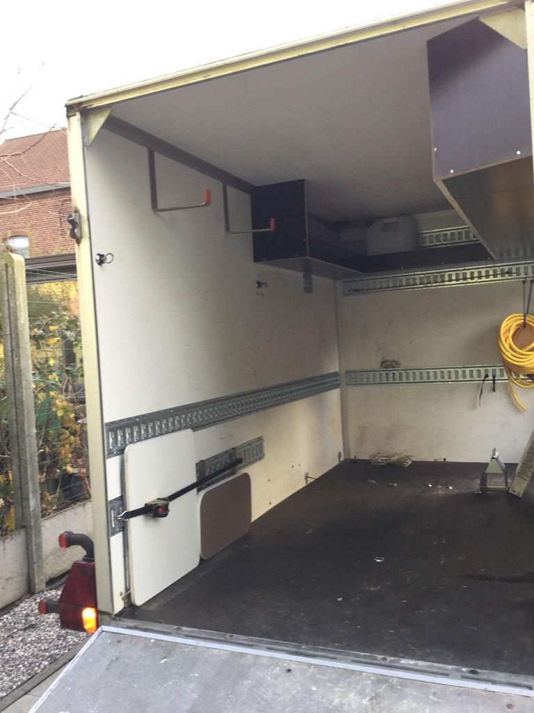 Saris tandem axle trailer
