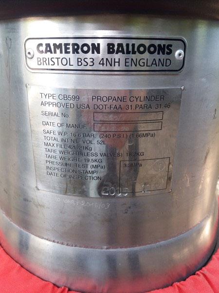 Cameron CB599 cylinder