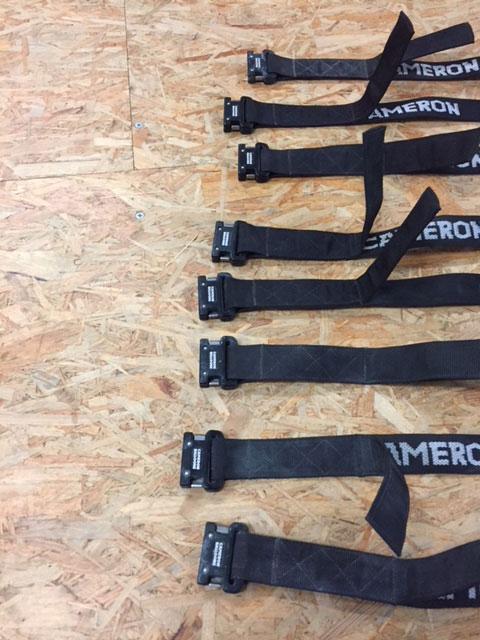 8x Nylon Cameron quick-lock tank straps
