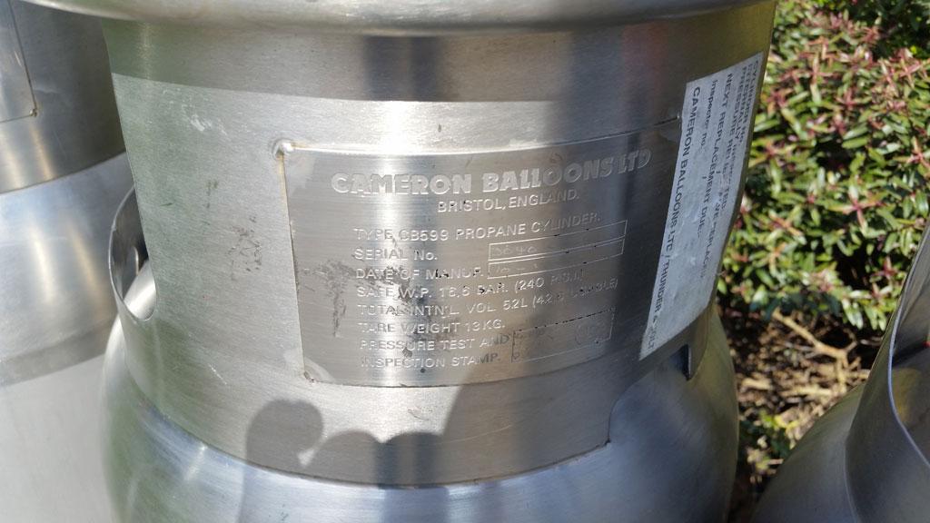 4x Cameron CB599 cylinders
