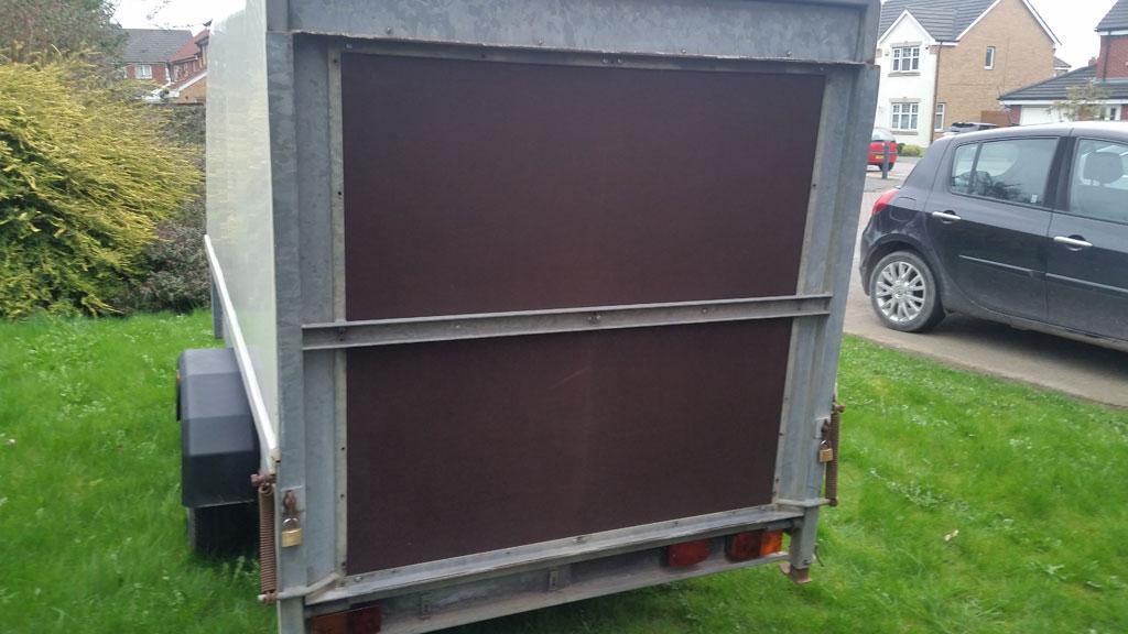 Staffordshire single axle 2.5m trailer