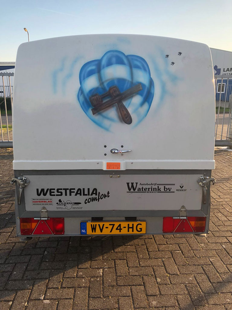 2.5m single axle Westfalia trailer