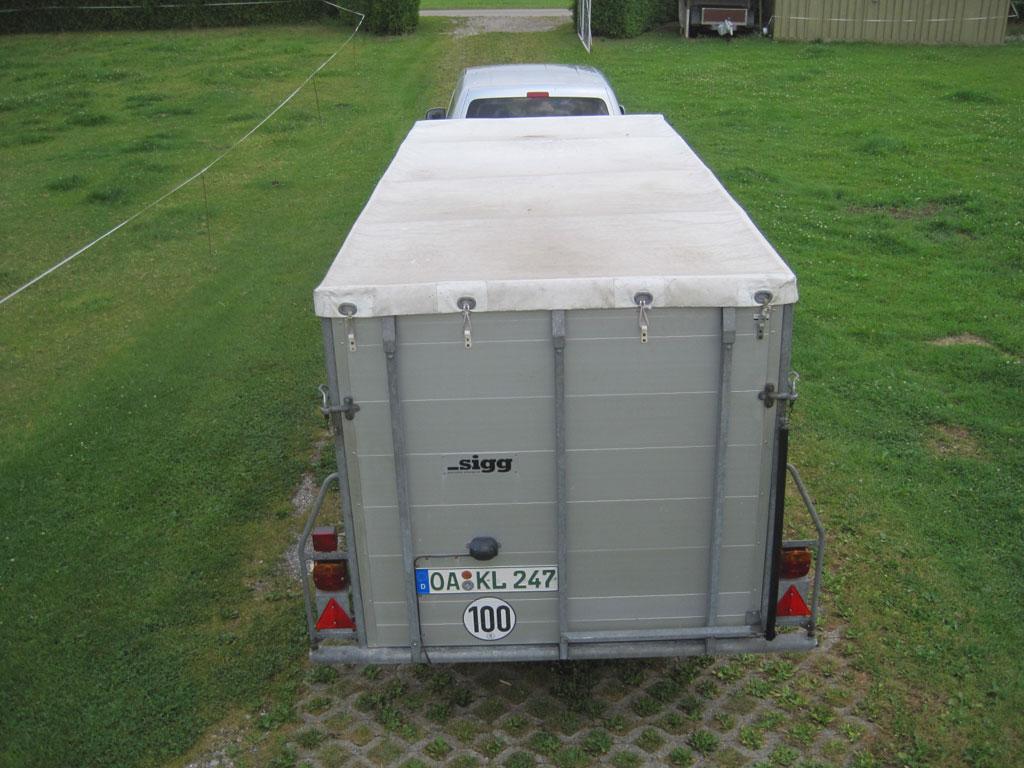 3.45m Sigg single axle trailer