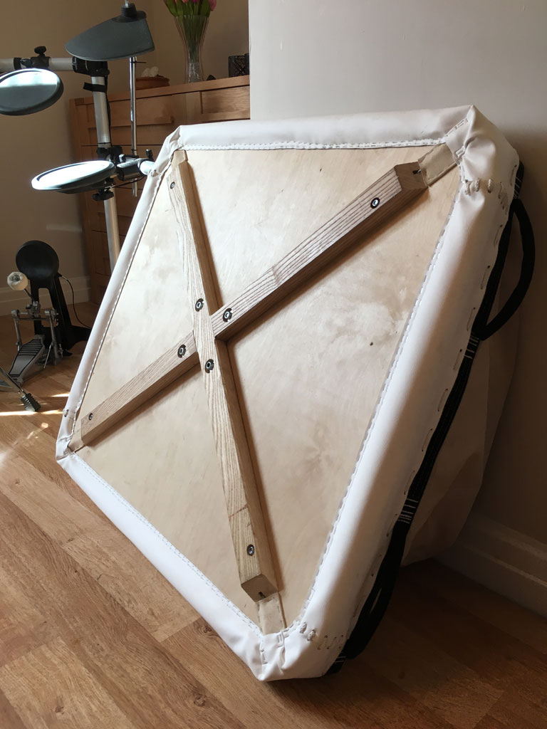 Homebuilt lightweight foldable basket