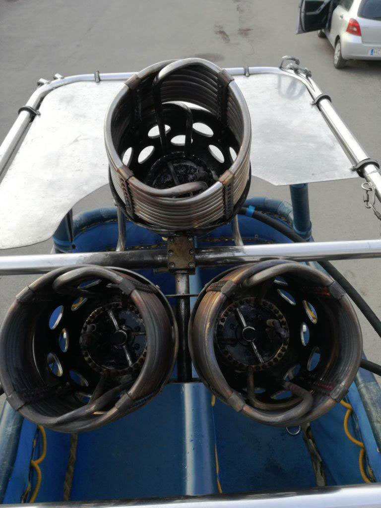 Lindstrand LBL Jetstream triple burners