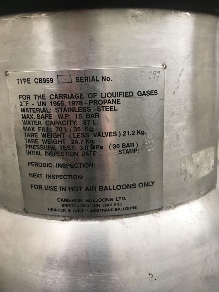 6x Cameron CB959G cylinders