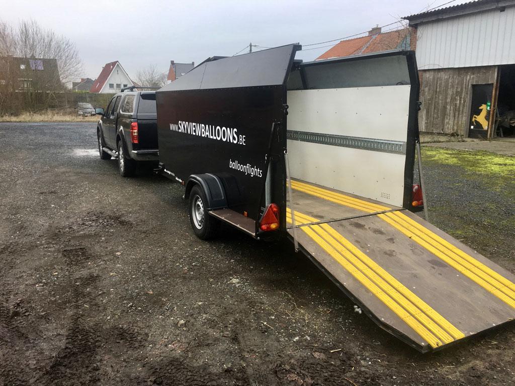 Single axle Canigo trailer