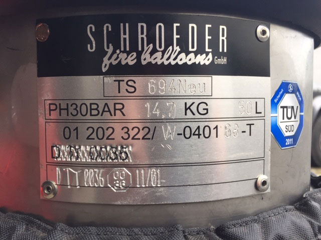 4x Schroeder VA50 cylinders