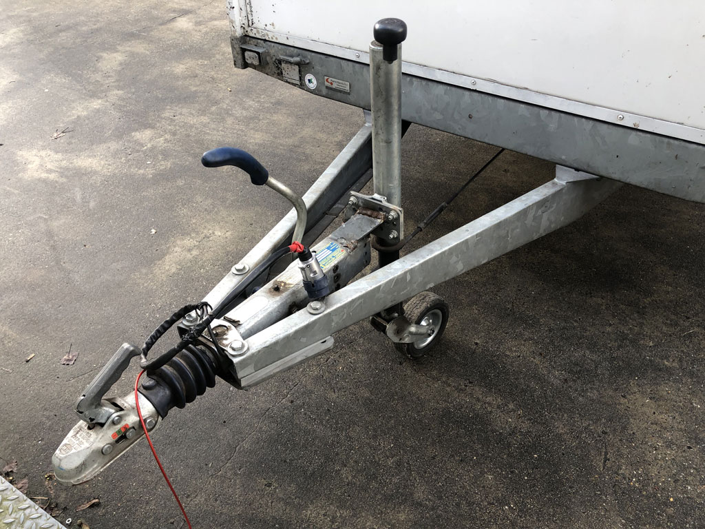 Tandem axle Hapert flat bed trailer