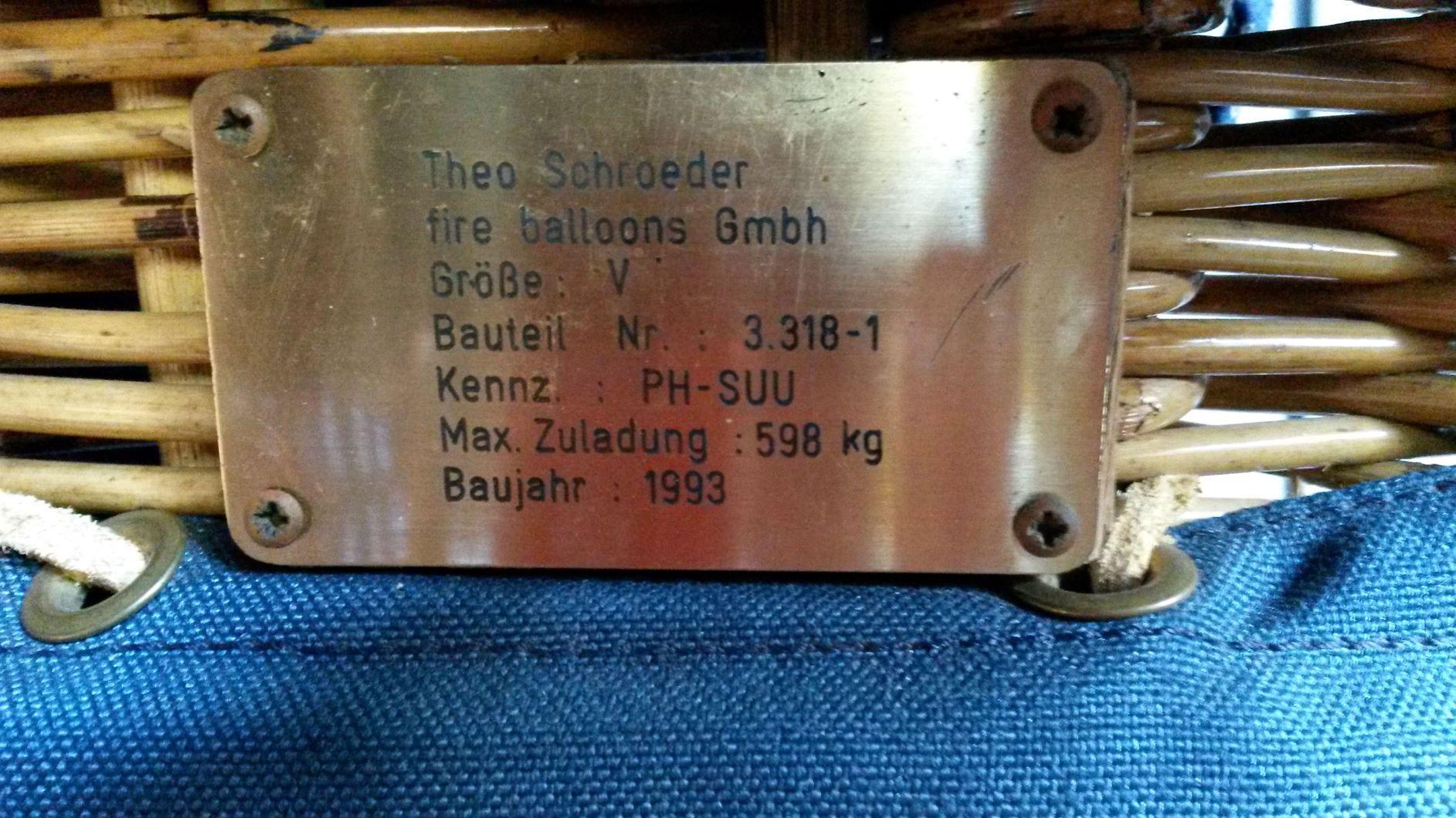 PH-SUU Schroeder Fire Balloons G 36/24
