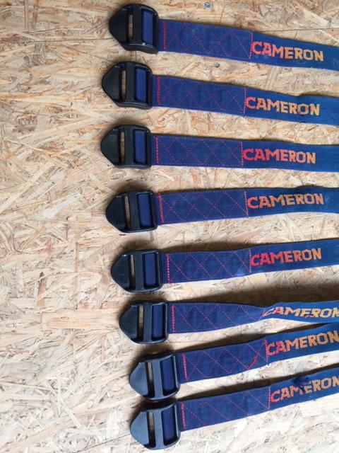 8x Cameron nylon cylinder strap
