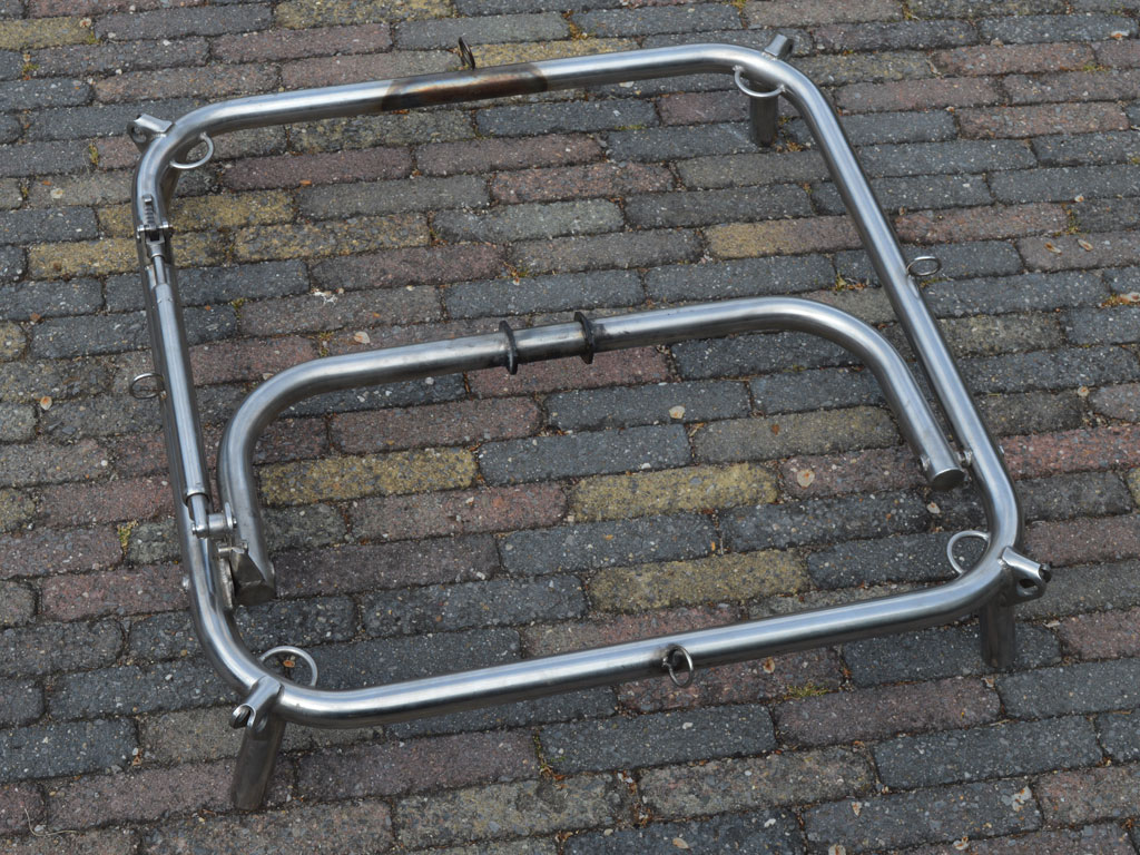 Height adjustable burner frame