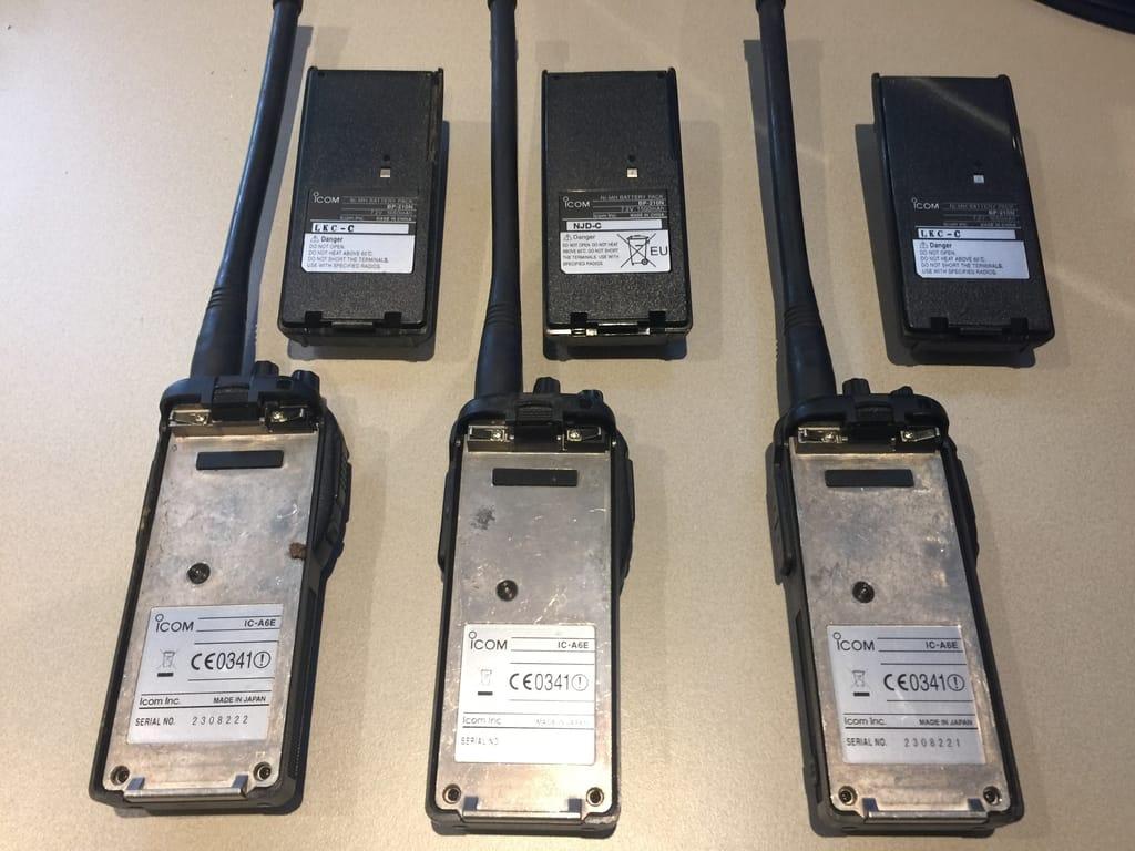 3x Icom IC-A6E