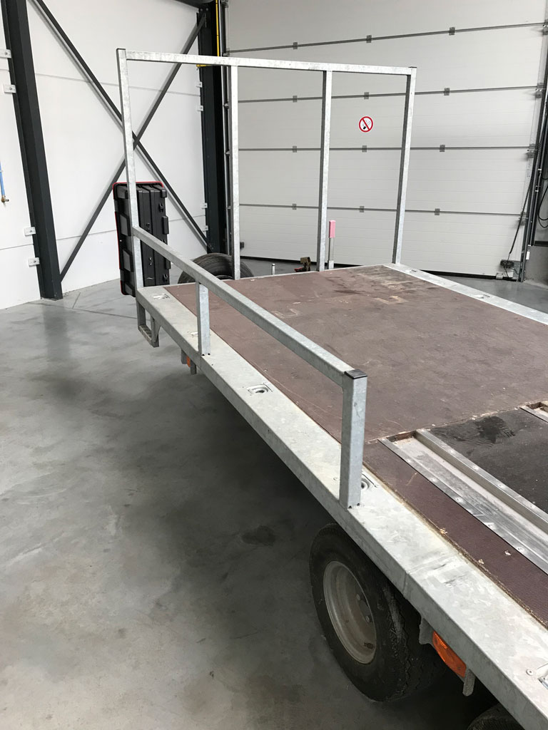 BCW tandem axle flat bed trailer