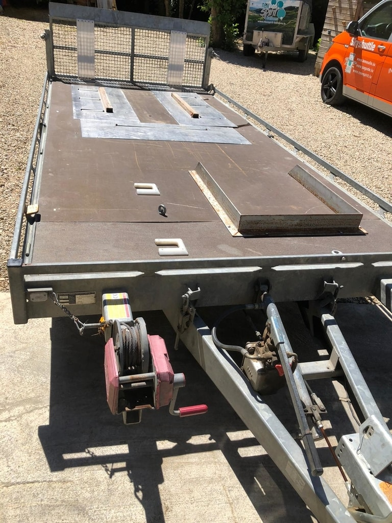 Hapert tandem axle flat bed trailer
