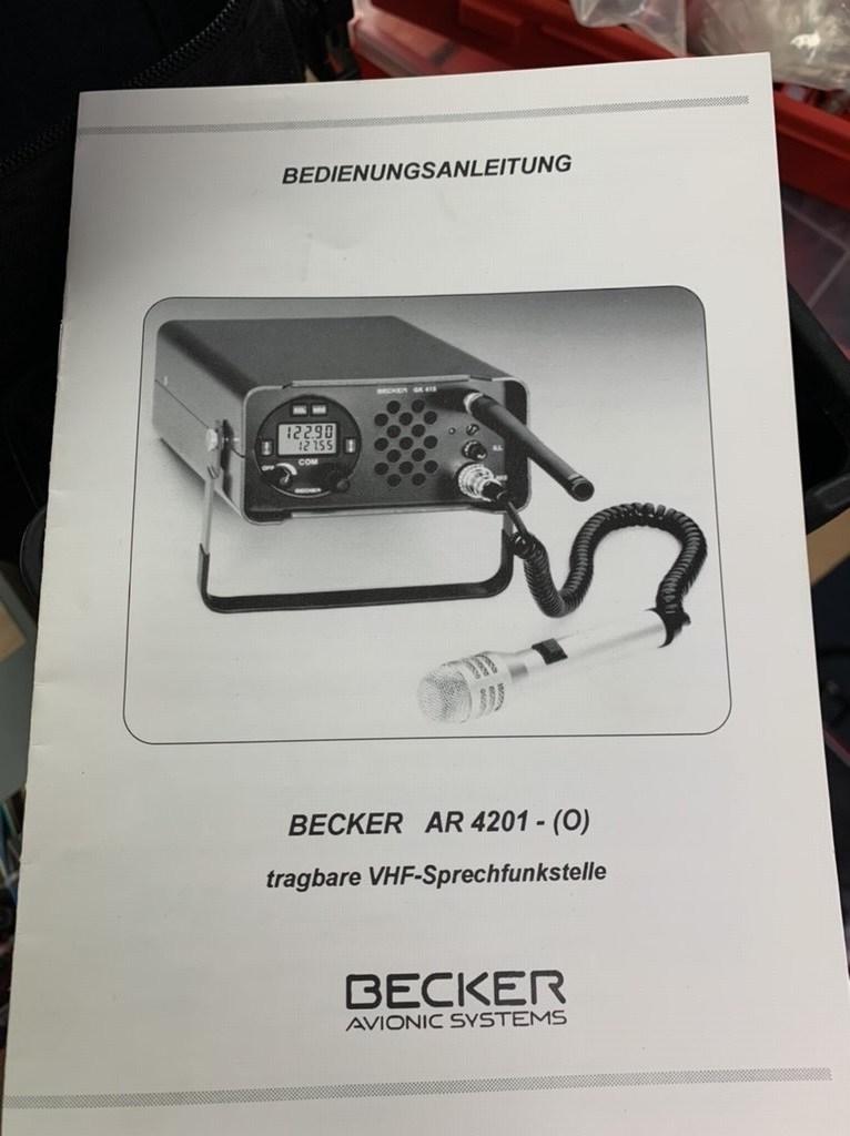 Becker GK415 / AR6201 air band transceiver