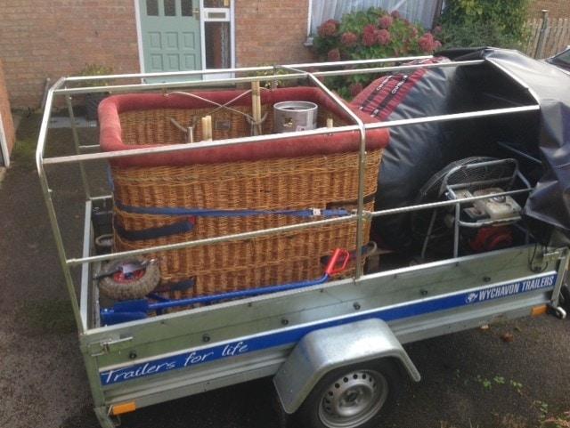 2.5m single axle Wychavon trailer