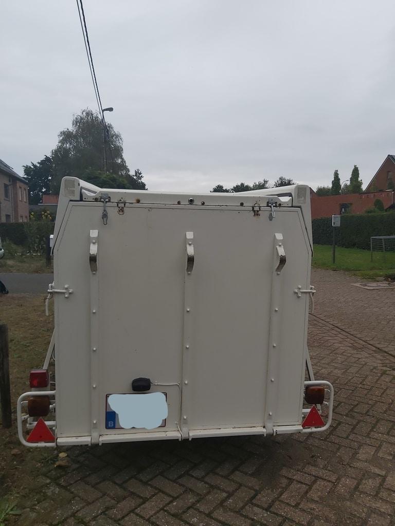 Single axle Hofmann trailer