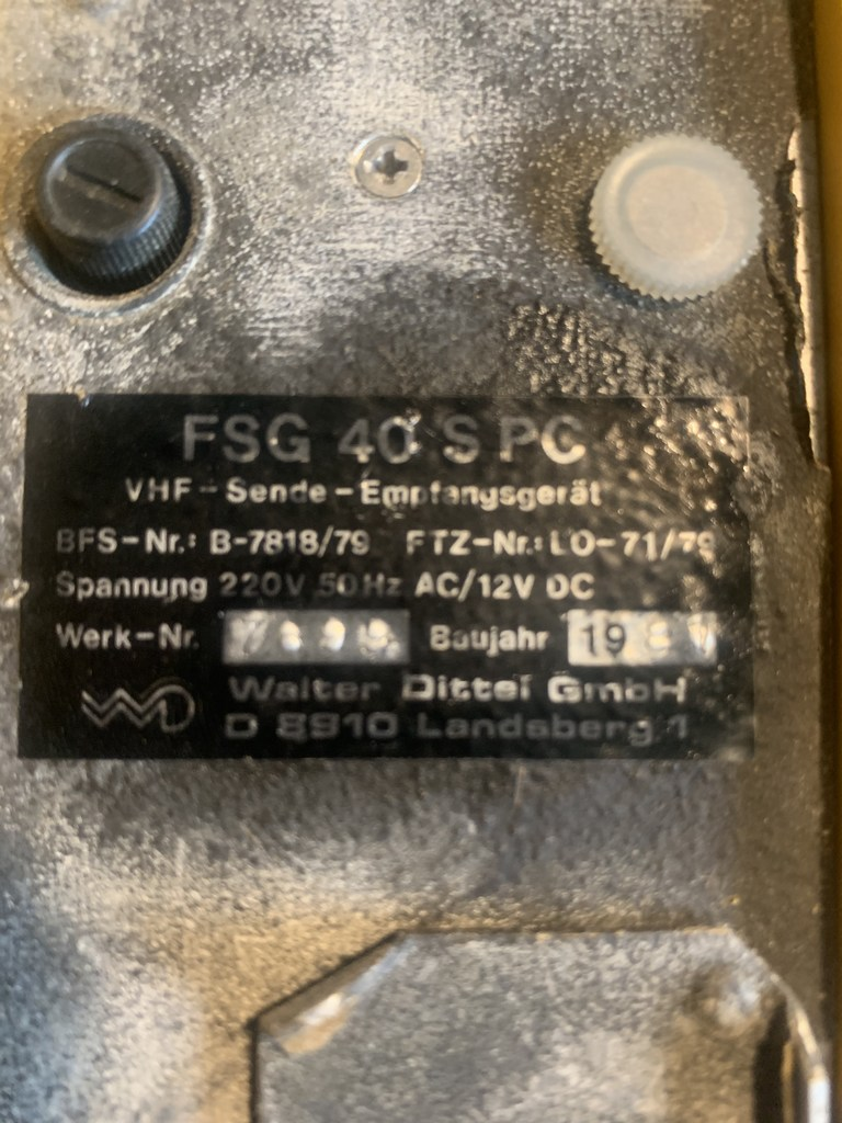 3x Dittel FSG40 SPC air band transceiver
