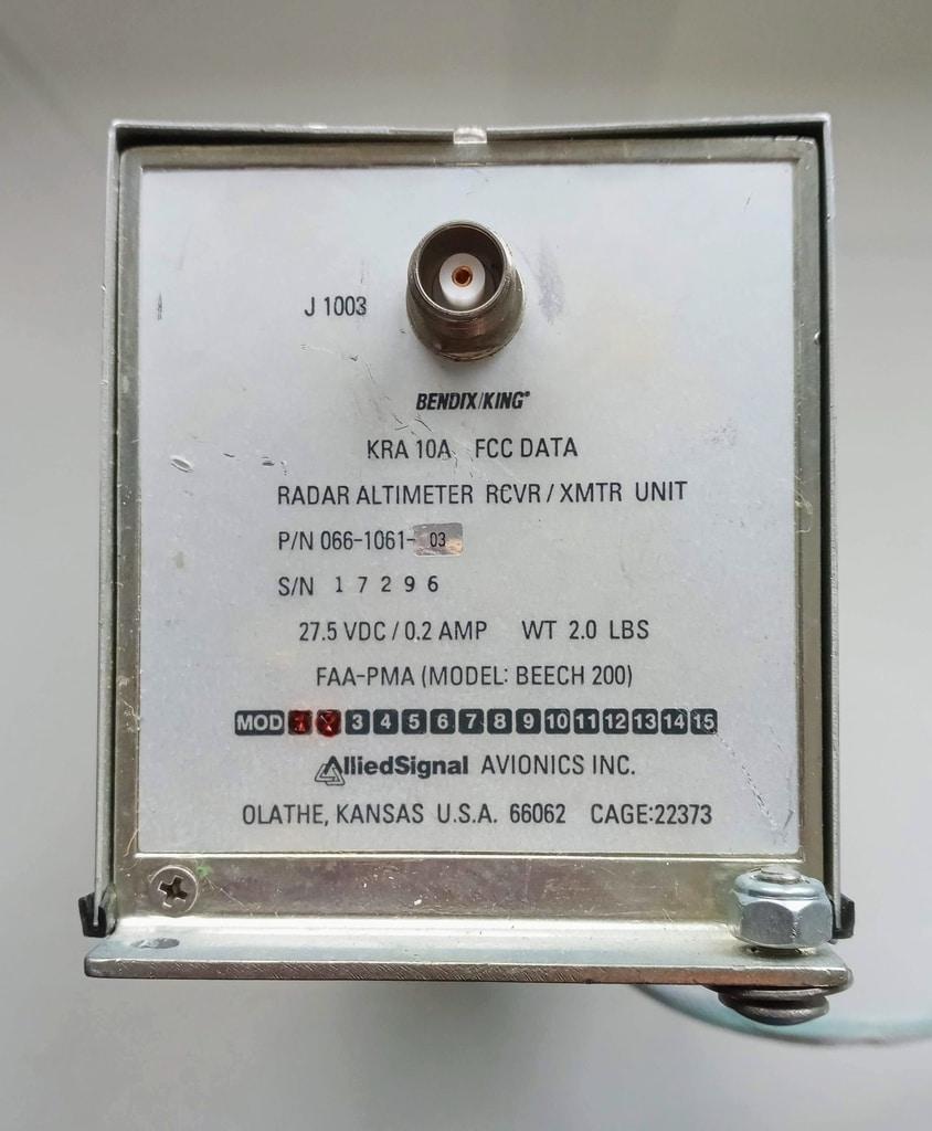 Bendix King Radar Altimeter