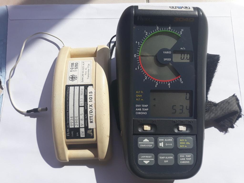 Flytec 3040 with TT34 temperature transmitter