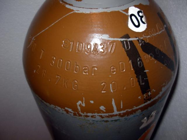 20 liter Helium tank